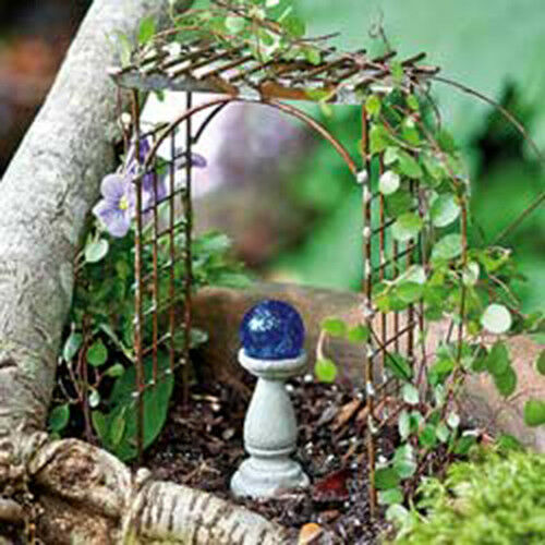 Trellis Arbor Miniature Dollhouse FAIRY GARDEN Accessories