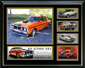 Image Is Loading Ford Gt Falcon Gtho Phase Iii Framed Memorabilia