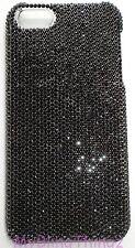 7ss JET BLACK Crystal Rhinestone Back Case for iPhone 4 4S w/ Swarovski Elements