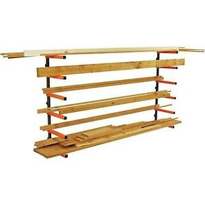 Indoor Outdoor Garage 6 Tier Lumber Storage Rack Level Wall Mount