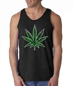 bastante baratas grandes variedades mayor descuento Marijuana Weed Leaf Men's Tank Top Cannabis Kush Stoner Bob ...