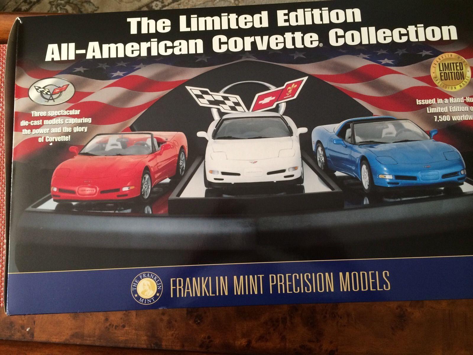 1997 - 98 - 99 corvette - set - franklin - mint - neue