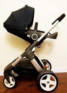 Details About Stokke Crusi Stroller Black Or Red Brand New Free Blanket Ret 1149 00