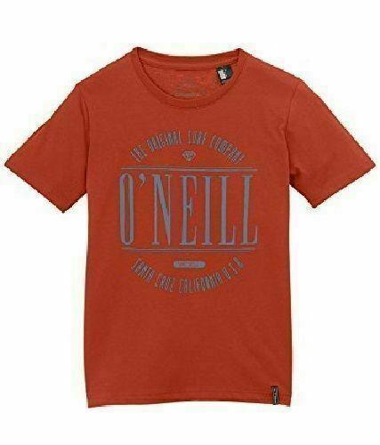 O /'NEILL RAGAZZI Ruggine Rosso Easy Company T-shirt 11-12 13-14 15-16 ANNI NUOVO CON ETICHETTA