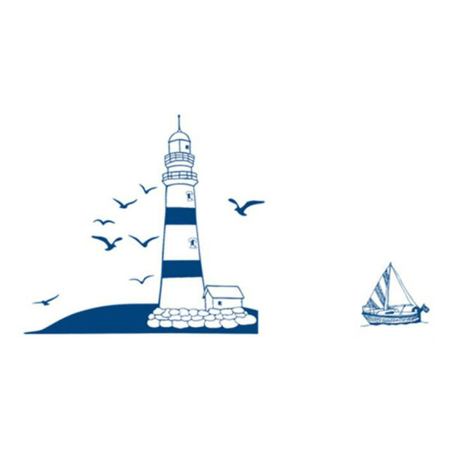 Lighthouse Seagull Sailboat PVC Art Wall Stickers Removable Living Room WS C3G5