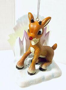 Carlton-Cards-Rudolph-Reindeer-Illuminating-Christmas-Ornament-Heirloom-New