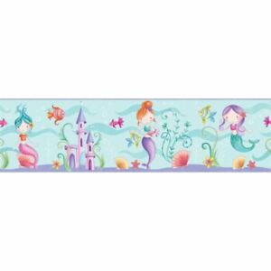 Mermaid Sea Life Ocean Wallpaper Border Childrens Bedroom Play
