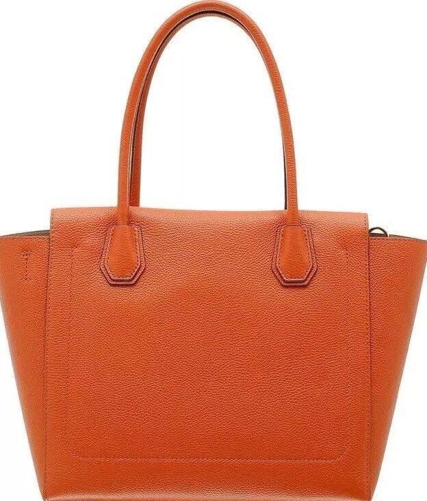 Michael Kors Mercer Medium Duffle Leather Handbag Orange 30H6GM9U2L   eBay 8e767628ce