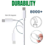 miniature 9 - 10/20 Pack Lot USB Charger Cord 3FT 6FT For iPhone 12 11 XR 8 7 6 Charging Cable