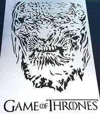#2 Game Of Thrones The Night's King White Walker Hardhome Airbrush Stencil Paint