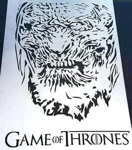 Monster image pertaining to game of thrones stencil printable