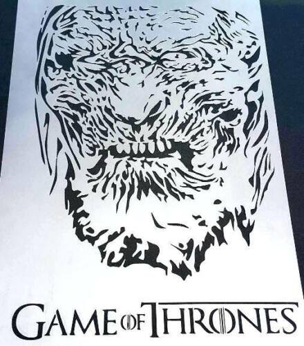 #2 Game Of Thrones The Night/'s King White Walker Hardhome Airbrush Stencil Paint