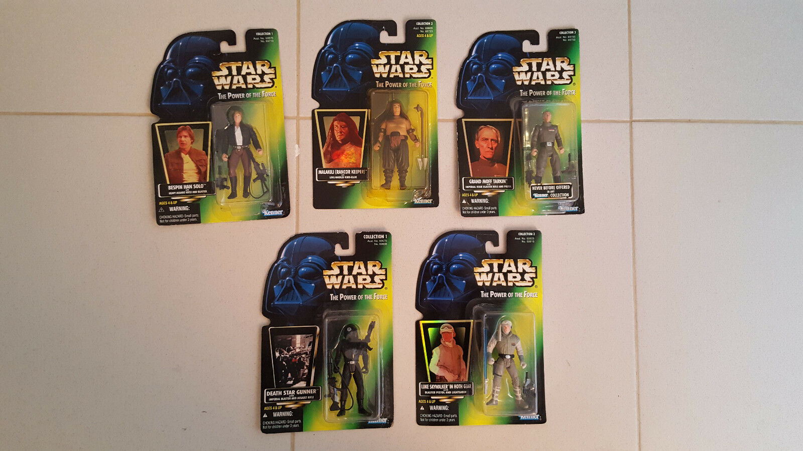 Lote 5 figuras star wars power of the force