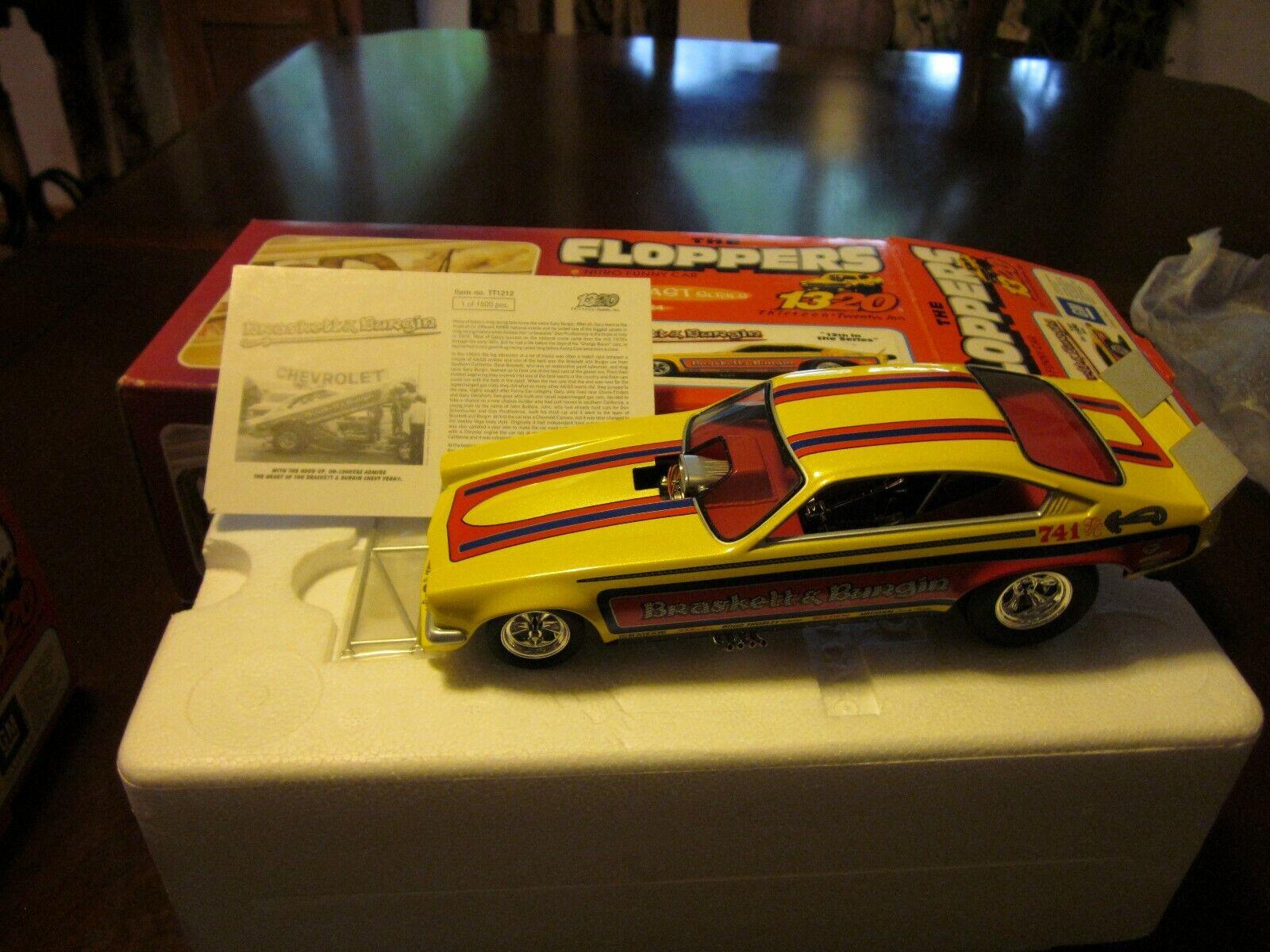 Sample Series. Braskett & Burgin's 1320 Inc. Floppers Funny Car Vega In Box