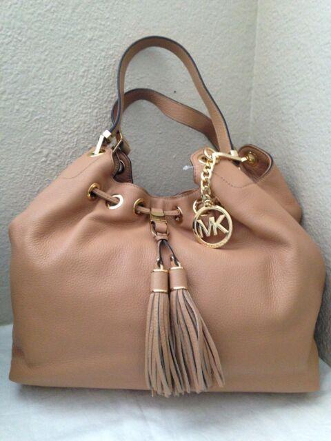 michael kors suntan leather camden drawstring shoulder tote bag ebay rh ebay com