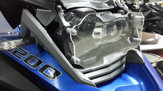 Clear Quick Release Headlight Protector R1200GS LC 2013 2014 2015 GS/Adventure