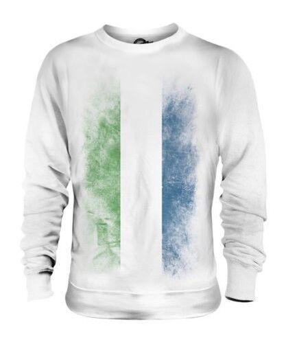 Sierra Leone Décoloré Drapeau Unisexe Pull Leone Maillot de Football Cadeau