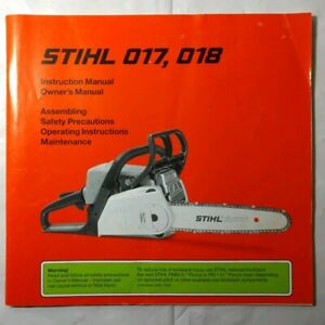 BRAND NEW! STIHL® MS193T chainsaw owners manual
