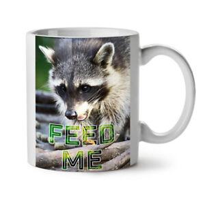 Feed Me Racoon Animal NEW White Tea Coffee Mug 11 oz | Wellcoda