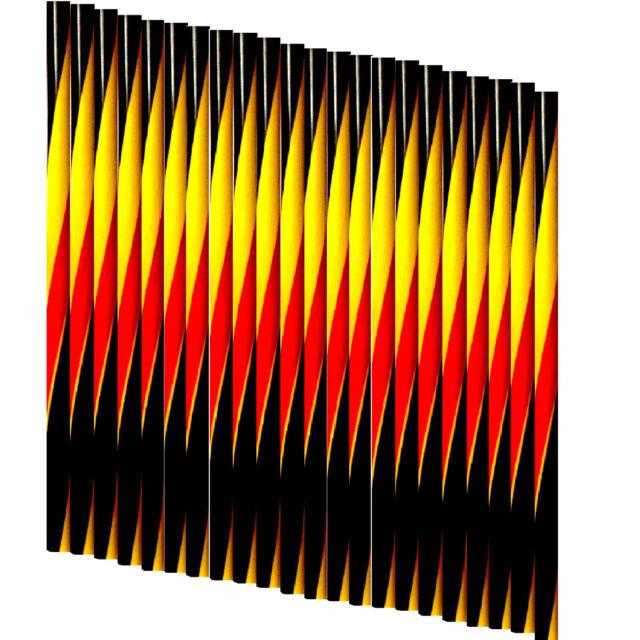 Trinkhalme schwarz - rot - gold 8x250mm Bar Strohhalme Twist gedreht - 100-10000