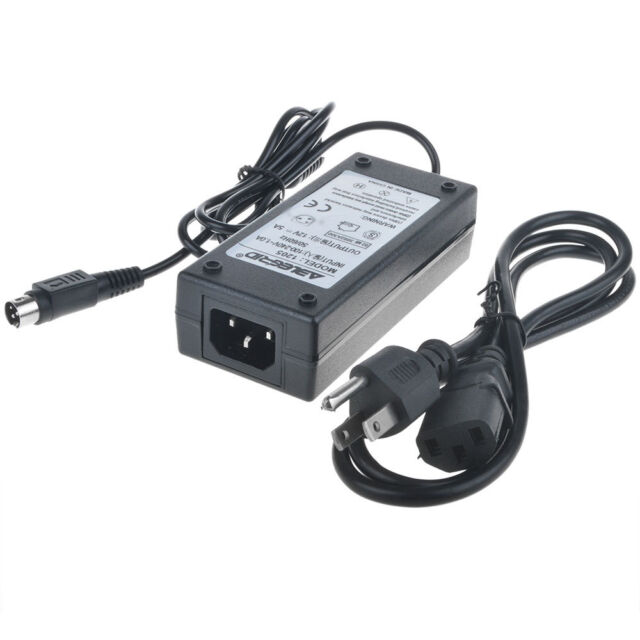 3-Pin 12V AC Adapter For CD COMING DATA CP1240 Power Supply Cord Charger 3 Prong