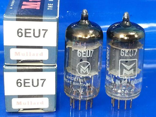 MULLARD 6EU7 VACUUM TUBE MATCHED PAIR 1963 SELECT AUDIO SUPER SWEET BUTTER TONE