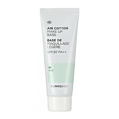 [The FACE Shop] Air Cotton Makeup Base SPF30 PA++ 01Mint, Upgrade Lovely ME:EX