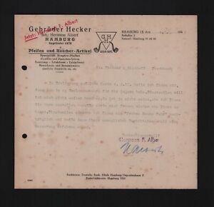 Amburgo, Autograph 1949, fratelli Hecker PIPA fumatori-articolo Hermann Albert