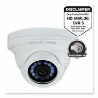 Night Owl Add-on Hd Wired Audio-enabled Security Dome Camera, - Ngtcamhda10wdma