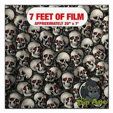 Hydrographic Film Red Eyed Mini Skulls Hydro Dipping 7 X 20 Hydro Dip