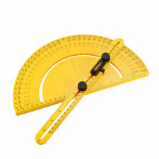 Protractor Angle Finder 0 180 Round Head With 250mm 10inch Arm Measuring Ruler