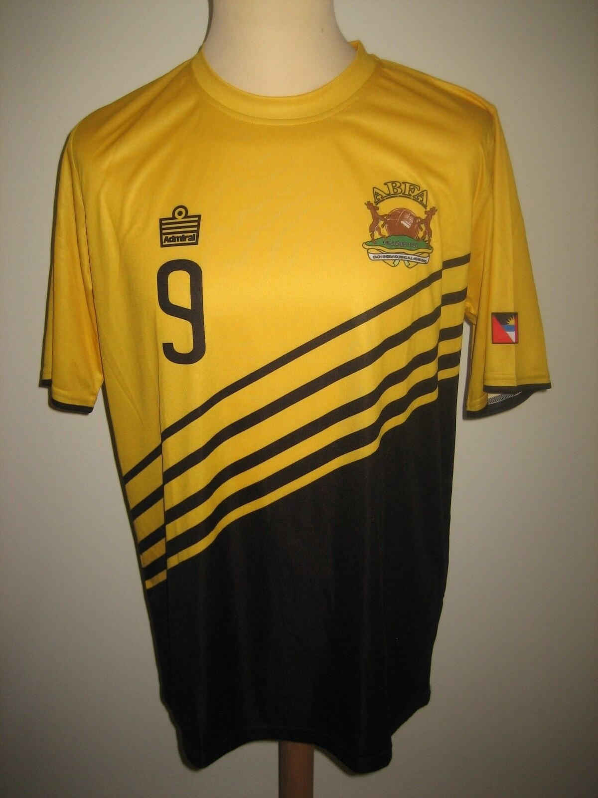 Antigua & Berbuda NUMBER 9 football shirt soccer jersey camiseta maillot Dimensione L