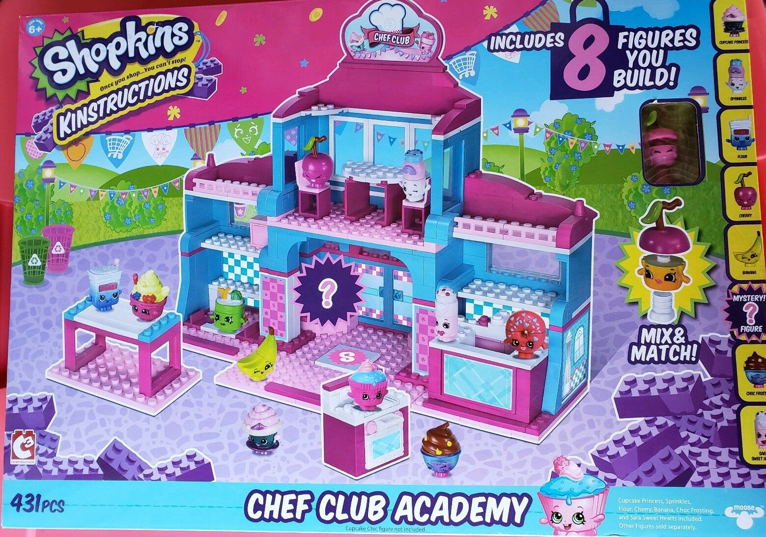 Shopkins Kinstructions Deluxe Supermarket Building Set  Chef Club Academy Academy Academy 431pc 1ba6df