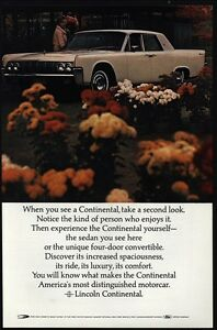 1964 Lincoln Continental White Luxury Car Woman Buys Flowers