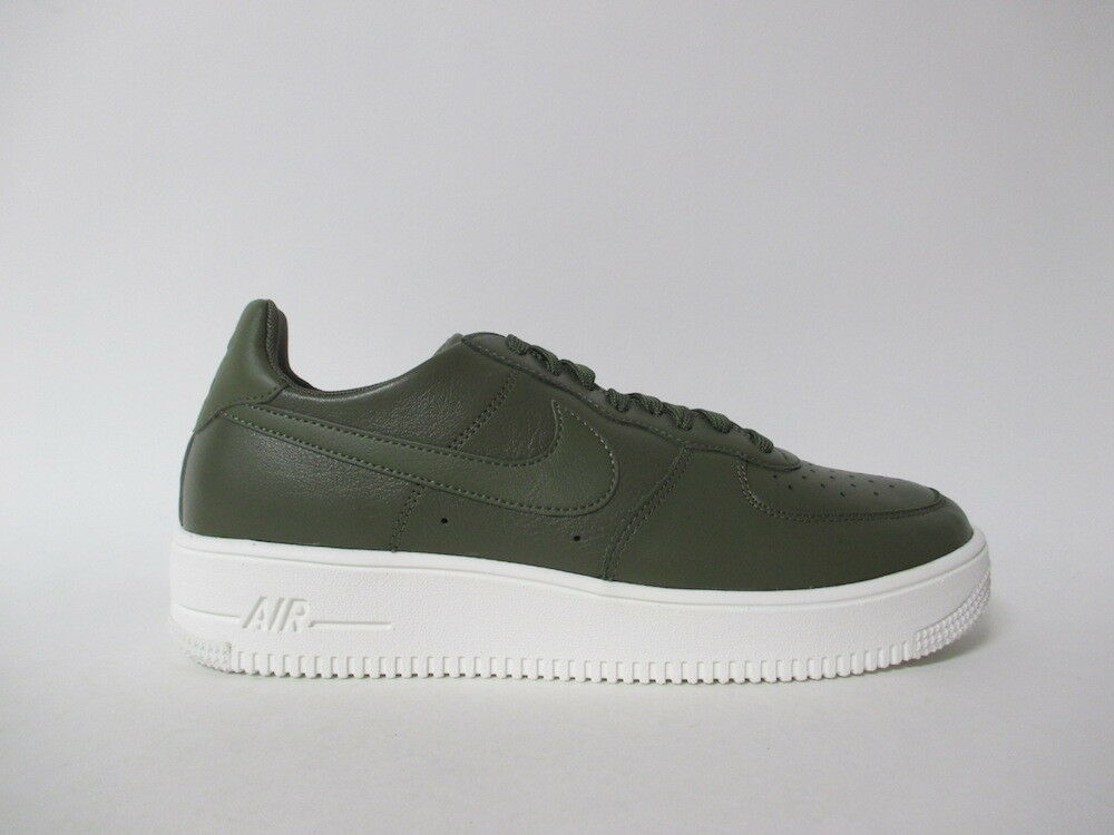 Nike Air Force 1 Ultraforce Low Leather Leather Leather Medium Olive Blanc Sz 9.5 845052-201 29df85