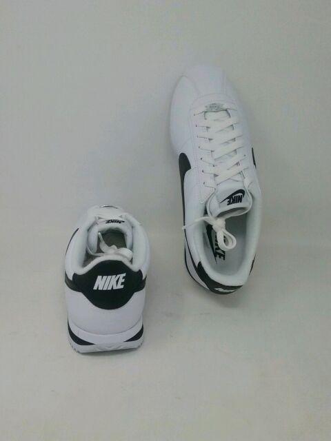 official photos 6368d d8439 New Nike Cortez Basic Leather White Black-Metallic Silver (819719 100) Mens