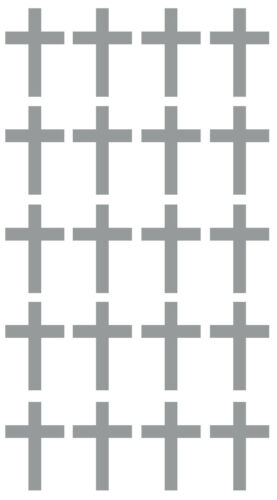 20 x Cross Crucifix stickers Crafting Scrapbooking Cardmaking Wall Mirror Window