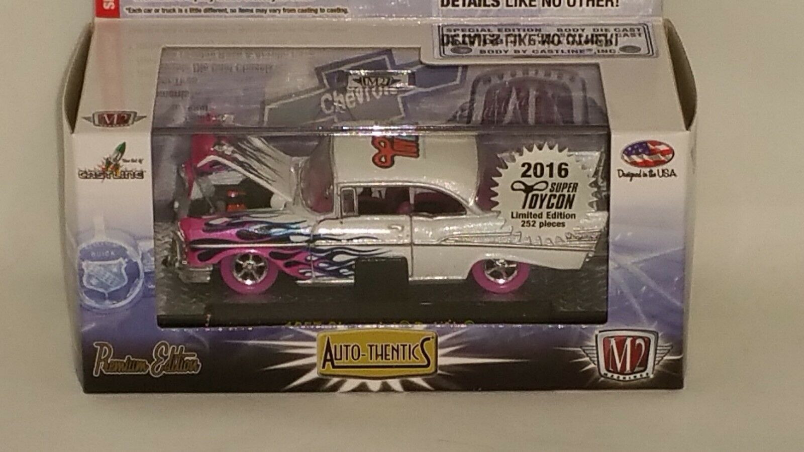 2016 M2 SUPER TOYCON CONVENTION SUPER CHASE CAR 1957 CHEVY BELAIR  1 OF 252
