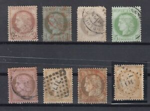 X2424-FRANCE-CERES-1870-1875-USED-CLASSIC-LOT-CV-310