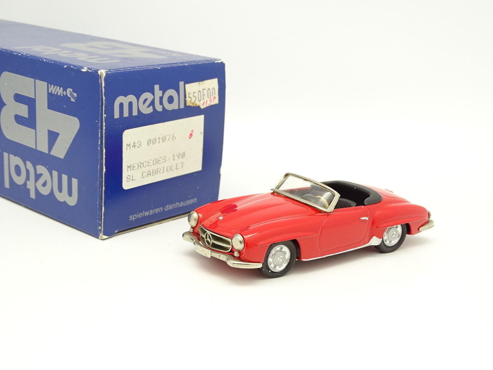 Danhausen whitea Metal 1 43 - Mercedes 190 SL Cabriolet red