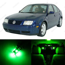 9 x Green LED Interior Light Package For 1999 - 2004 VW Jetta MK4