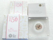 2016 Beatrix Potter Mrs Tiggy-Winkle 50p Fifty Pence Silver Proof Coin Box Coa