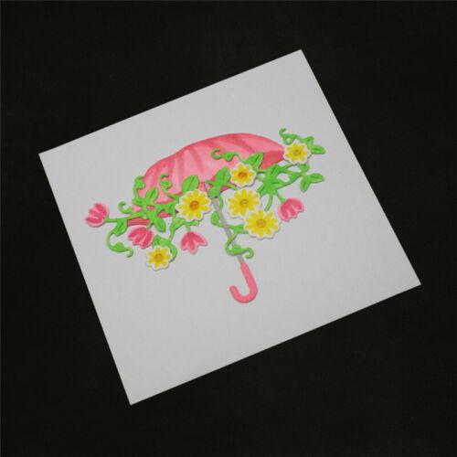 Stanzschablone Schirm Blume Liane Weihnachts Hochzeit Geburtstag Karte Album DIY