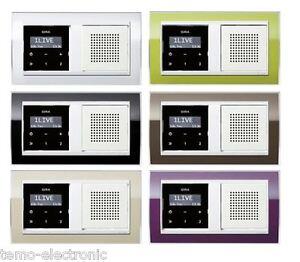 gira unterputz radio rds reinwei rahmen event klar in 6 farben w hlbar neu ebay. Black Bedroom Furniture Sets. Home Design Ideas