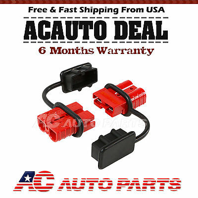 50A Battery Quick Connect/Disconnect Wire Harness Plug Connector Winch Trailer