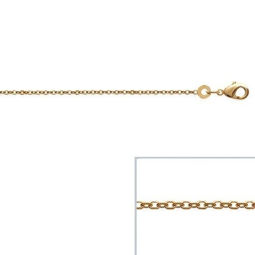 Chain gold-plated 18-carat mesh Chain diamond Way 19 11 16in new