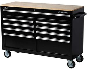 storage 9 drawer mobile power tools rolling casters cabinet chest box work bench ebay. Black Bedroom Furniture Sets. Home Design Ideas