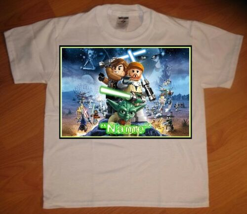 NEW Lego Star Wars 3 Custom Personaliz​ed Birthday Party Favor Gift T-Shirt