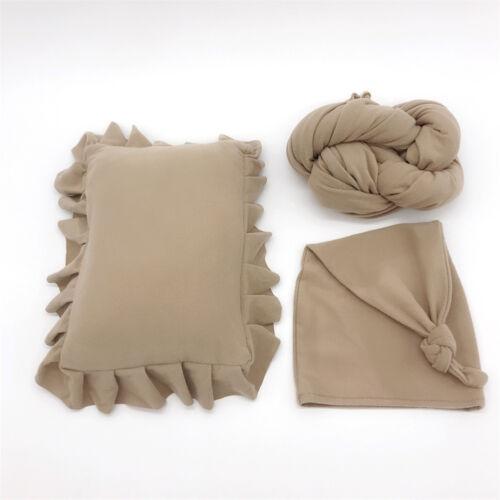 Newborn baby photography props 3pcs pillow hat wraps baby infant Studio Shooting