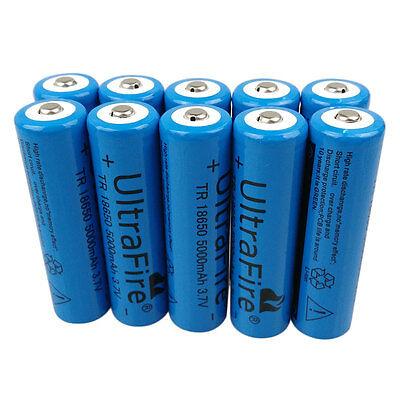 1/2/4/6/10/12X 18650 5000mAh 3.7V Li-ion Rechargeable Battery for Flashlight